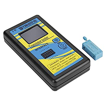 M328 0.1Ω-50MΩ- Comprobador de condensador de transistor multifuncional con pantalla LED, detector automático de diodo capacitancia, medidor ESR: Amazon.es: ...