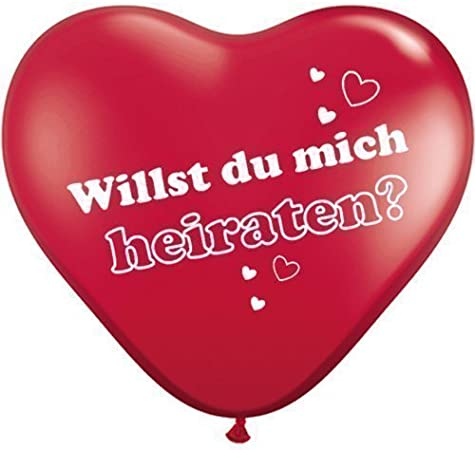 !!! 25cm Farbe Rot Inhalt 5 Ballons 10 Zoll Herzballon Folienballon !!
