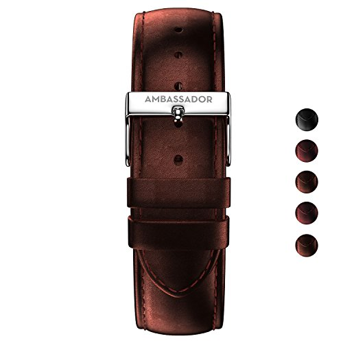 Ambassador 20mm Watch Strap - Quick Release - Interchangeable Leather Watch Band