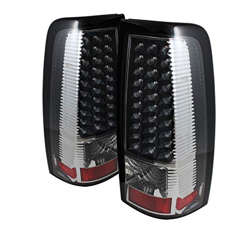 For 2003-2006 Chevy Silverado 2005-2006 GMC Sierra LED Blk Tail Lights Lamp Pair Left+Right 2004 2005
