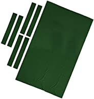 DYNWAVE Professional 9 Foot Pool Table Cloth Felt – 0.6mm Thick & High Accuracy Pre-Cut Bed and Rails Stri