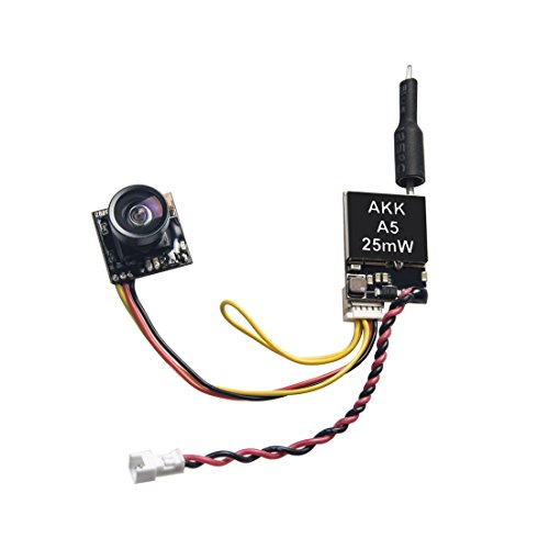 AKK A5 5.8Ghz 25mW FPV Transmitter 600TVL CMOS Micro Camera Support OSD Switchable Raceband for Quadcopter Drone Like Tiny Whoop Blade Inductrix