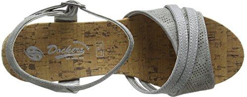 552 42ss202 Gerli Plateado Pulsera Dockers by 680552 Mujer con Grau para Sandalia Silber 7nw6Ca1Wq