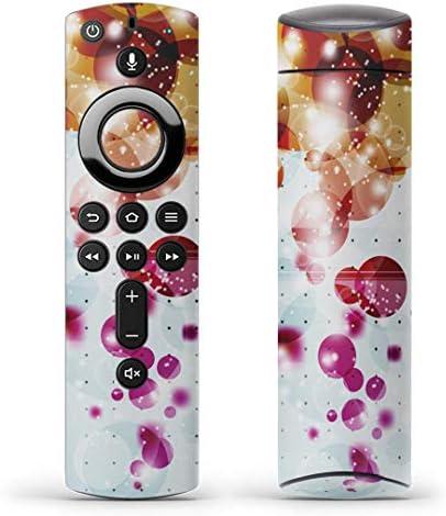 igsticker Fire TV Stick 第2世代 専用 リモコン用 全面 スキンシール フル 背面 側面 正面 ステッカー ケース 保護シール 002118 クール カラフル キラキラ