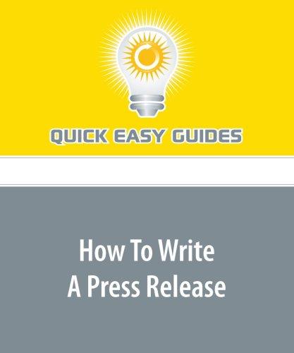How To Write A Press Release PDF ePub ebook