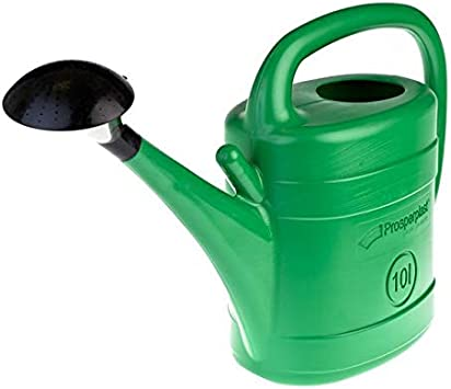 10 Litre Garden Watering Can Green Wash Watering Cans 8L Rose Storage Nozzle