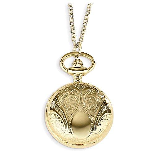 Jewelry Adviser Charles Hubert Watches Charles Hubert Gold-finish Scroll Design Pendant Watch