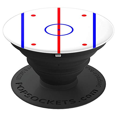 Hockey Rink Center Ice Face Off Circle Blue Line Red Line - PopSockets Grip and Stand for Phones and - Hockey Line