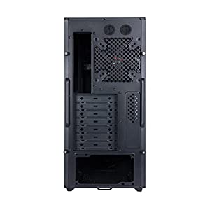 ROSEWILL ATX Mid Tower Gaming Computer Case, supports up to 400 mm long VGA Card, comes with two fans pre-installed - Front 120 mm Fan x 1, Rear 120 mm Fan x1 (TYRFING)