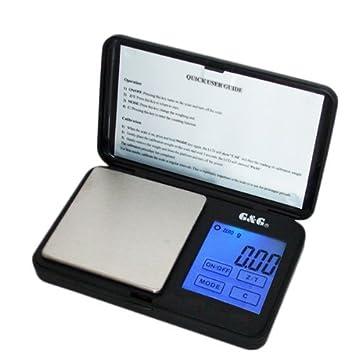 G&G - Báscula digital de precisión - Peso máximo: 500 g / Granularidad: 0