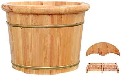 防水サウナバケツ,防漏 丈夫 使用簡単 サウナ 足浴桶 湯桶 手桶 木製 耐久性 滑らかい バスアクセサリー 湯桶 手桶 (Color : B)