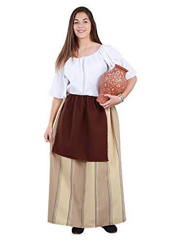 DISBACANAL Falda Campesina Medieval Mujer - -, M: Amazon.es ...