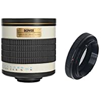 Bower 500mm f/6.3 Telephoto Mirror Lens for Nikon D7200 D7100 D7000 D5600 D5500 D5300 D5200 D5100 D5000 D3400 D3300 D3200 D3100 D3000 D610 D600 D300s