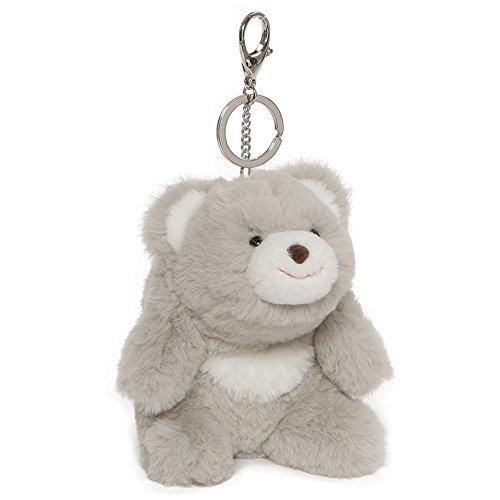 GUND Snuffles Teddy Bear Stuffed Animal Plush Keychain, Gray, 5