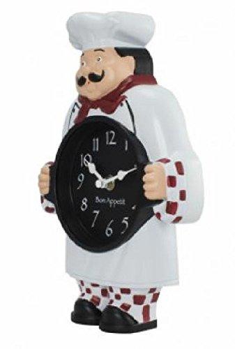 1520G Geneva Clock Company Chef Wall / Tabletop Analog Clock