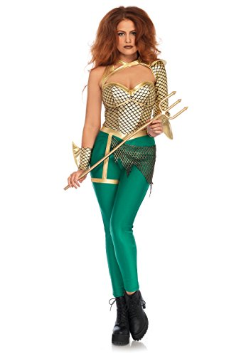 (Leg Avenue Women's Sexy Aqua Warrior Hero Costume, Multi)