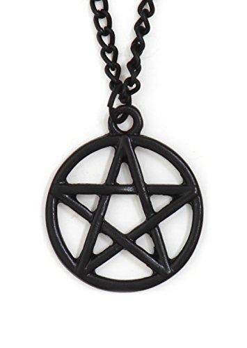 Pentagram Necklace Black Tone Pentacle Star NW05 Statement Pendant Fashion Jewelry