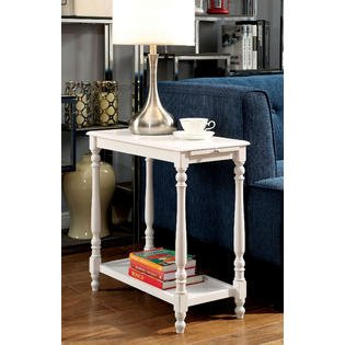 Mykolaiv Side Table in White Finish For Sale