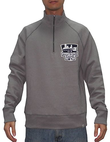 1/4 Zip Thermal Hooded Pullover - SPORTS SHACK USA ALL-STAR GAME 2014 Mens 1/4 Zip Pullover Thermal Sweatshirt M Grey