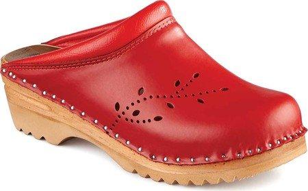 Troentorp Women's stad B Clog Leather Red O'Keefe RRw8B