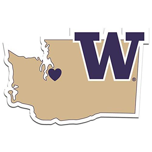 NCAA Washington Huskies Home State Decal, 5 Inch (Huskies Decal Washington)