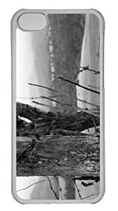 Customized iphone 5C PC Transparent Case - Fence 2 Personalized Cover