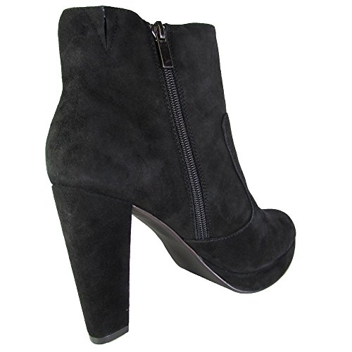 Boot Leather Ankle Women's High Suede Rancee Madden Black Steve Suede RTBUUq