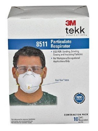 3M 8511 Particulate N95 Respirator with Valve-80 Count Pack (With Valve)