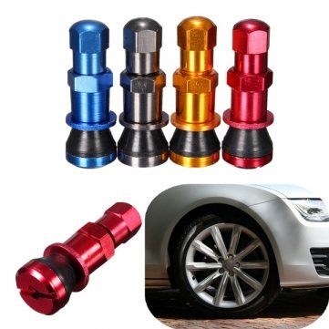 4xválvula de aluminio universal de ruedas de coche neumático sin cámara de aire proviene tapa guardapolvo: Amazon.es: Coche y moto