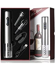 Draadloze elektrische kurkentrekker, professionele, automatische flesopener, wijnschenktuit, vacuüm-siliconen sluiting, geschenkdoos