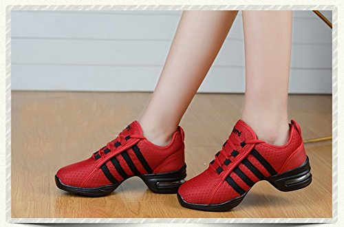 Shoes Sneakers Fashion Soft by JiYe Women Red Casual Women's 7US Outdoor Dance Breathable wqqt1F