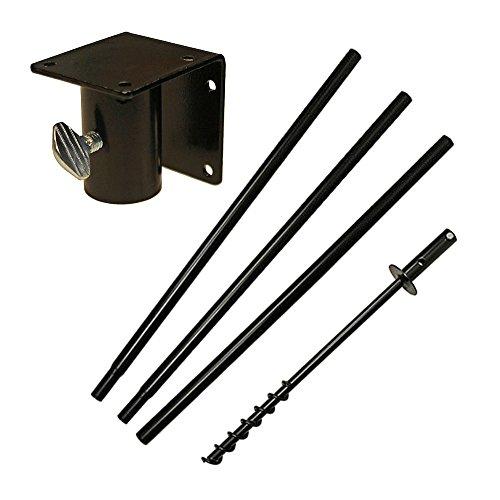 5 Piece Feeder Pole Set with Twist-in Ground Socket