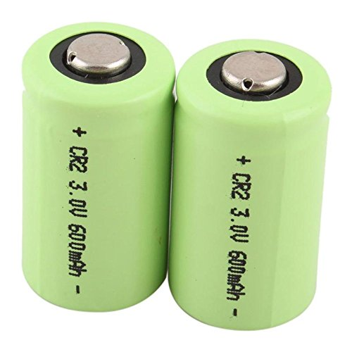 2 x CR2 3V 600mAh Great Power Rechargeable Battery Green - Li Ion 600mah Photo Battery