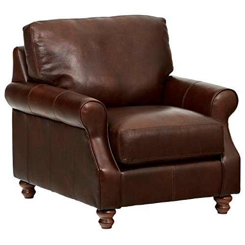 Chair Walnut Futon - Stone & Beam Charles Classic Oversized Leather Chair, 39