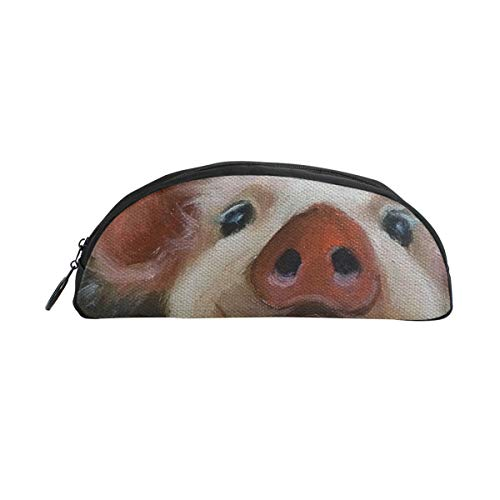 Laki-co Pencil Pouch Case Lovely Pig Face Zippers Pen Bag Office Pen Holder Organizer Stationery Bag Cosmetic Bag School Supplies Students]()