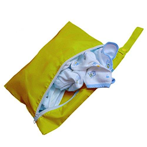QHGstore Baby heraus schmutzige Kleidung Beutel faltende schmutzige Bekleidungs Aufbewahrungsbeutel Aufbewahrungsbeutel Grün Gelb