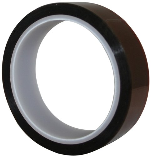 Maxi 835K Kapton Electrical Grade Polyamide Film Tape with 1.5 mil Silicone Adhesive, 3.5 mil Thick, 36 yds Length, 1/2' Width, Amber 1/2 Width Maxi Adhesive Products Inc.