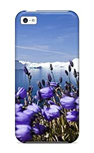 New Purple Arctic Flowers Hard shell Skin Case Compatible With For SamSung Galaxy S5 Mini Case Cover