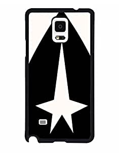 Ogetuely -Snap On Samsung Galaxy Note 4 Funda Case Cover Star Trek Logo,Movie Powerful Celebrity Popular Quotes Tough Scratch Resistant Back Protection Cell Phone Cover