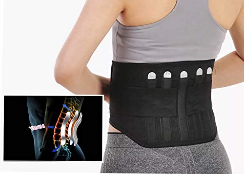 - Immediate Relief for Back Pain Breathable Mesh Design with Lumbar Pad - Adjustable Support Straps - Lower Back Belt