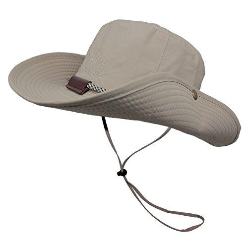 Omechy Waterproof Outdoor Bucket Hat Summer UV Protection Sun Cap Boonie Fishing Camouflage Hat,Khaki
