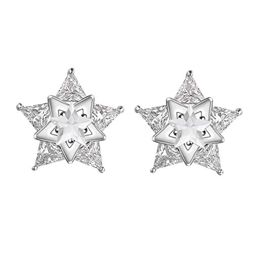 Yoursfs Clip on Star Earrrings for Women Fashion White Clear Crystal Summer ()