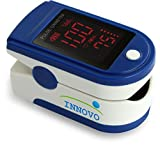 Innovo INV-430J Fingertip Pulse Oximeter Oximetry Blood Oxygen Saturation Monitor with silicon cover, batteries and lanyardFDA approved (Sapphire Blue) …