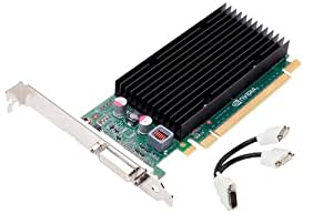PNY nVidia NVS 300 - Tarjeta gráfica (x16, perfil bajo, DVI dual, 512 MB)