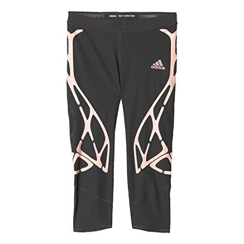 Adidas Adizero Sprintweb Womens Three XS Utility Black-Vapor Pink - Adidas Nylon Tights