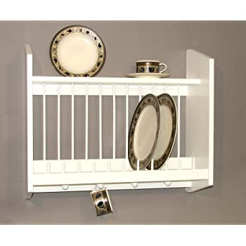 Plate Rack with Shelf White MADE IN USA  sc 1 st  Amazon.com & Amazon.com: Plate Rack with Shelf White MADE IN USA: Dish Racks ...