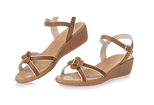 Leather Sandals Flat Always Mother Brown Womens Beach Footwear Driving Shoes Pretty woman for Oversize qXwHwYt