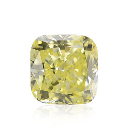 Diamond Radiant Loose Diamonds (0.42Cts Fancy Light Yellow Loose Diamond Natural Color Radiant Cut IGI)