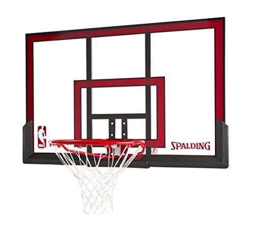 Spalding 79354 Backboard/Rim Combo with 48-Inch PolyCarbonate Backboard