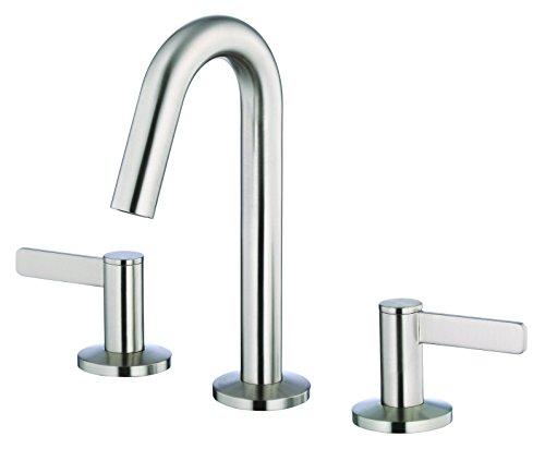 (Danze D304130BN Amalfi Two Handle Mini-Widespread Lavatory Faucet, Brushed Nickel)
